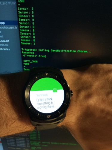 You don't need to write a simple line of code to view this on watch, #justsayin.